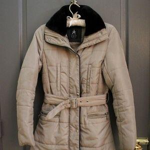 Jackets & Blazers - Tan Champaign Puffer Jacket Heavy Duty Winter Coat